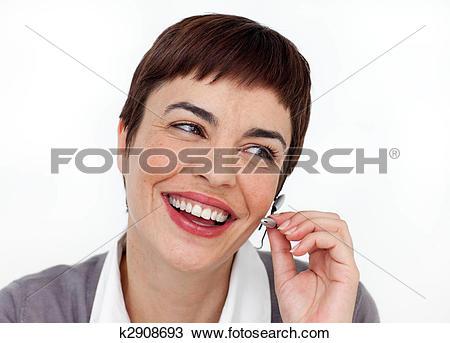 Animated customer service clipart. Stock photo of representative
