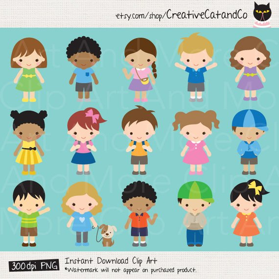 Animated cute girl characters clipart banner library library Kids Clipart Children Clipart Boy Clipart Girl Clip Art Kid ... banner library library
