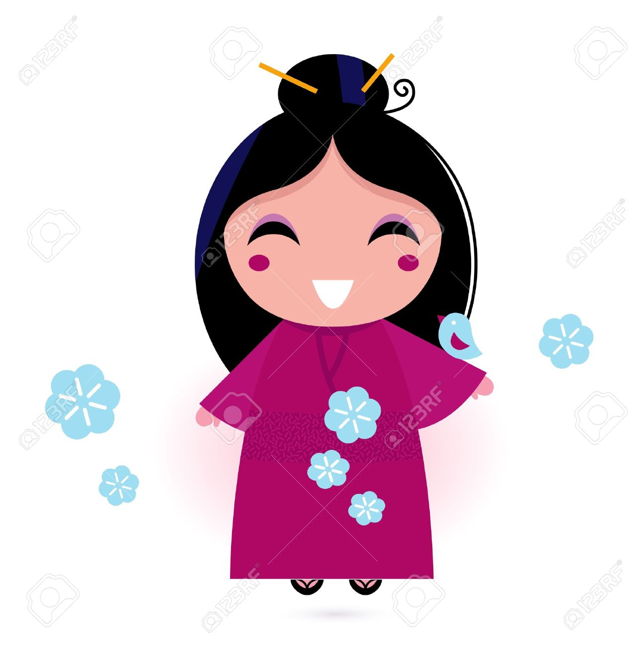 Animated cute girl characters clipart png black and white Cute Japanese Cartoon Characters Clipart   Free download best Cute ... png black and white