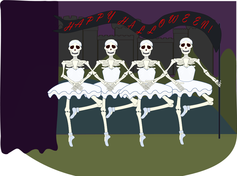 Animated dancing skeleton clipart vector royalty free library Skeleton Clipart & Animations - Free Halloween Graphics vector royalty free library