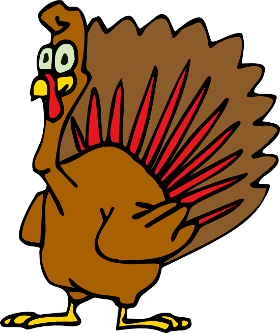 Turkey holding sign clipart free clip black and white Free Turkey Clipart and Animations clip black and white