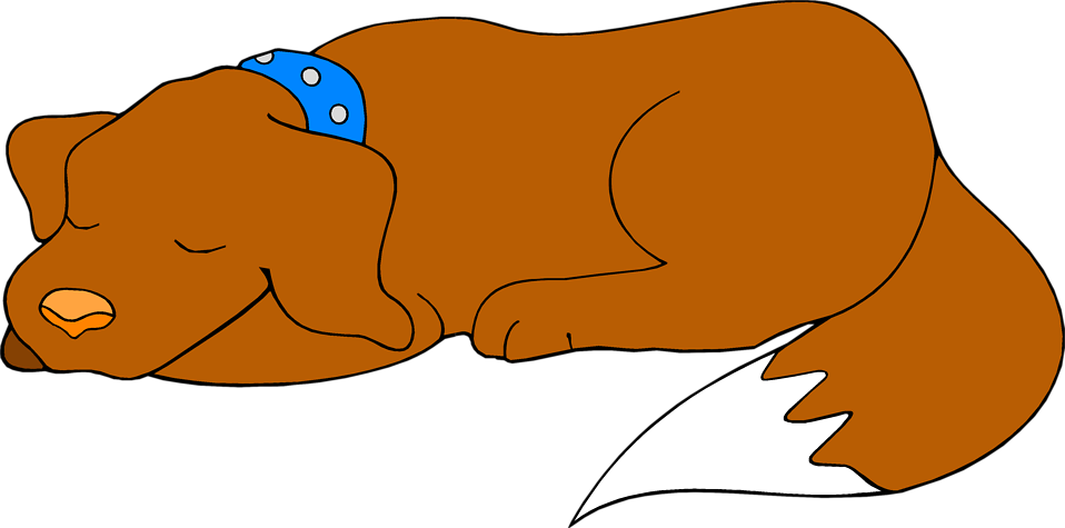 Dozing dog clipart. Clip art dogs golden