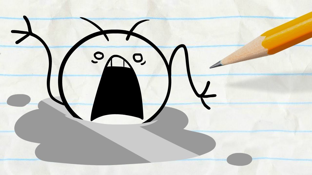 Animated drowning clipart vector royalty free stock Pencilmate Nearly Drowns! -in- \