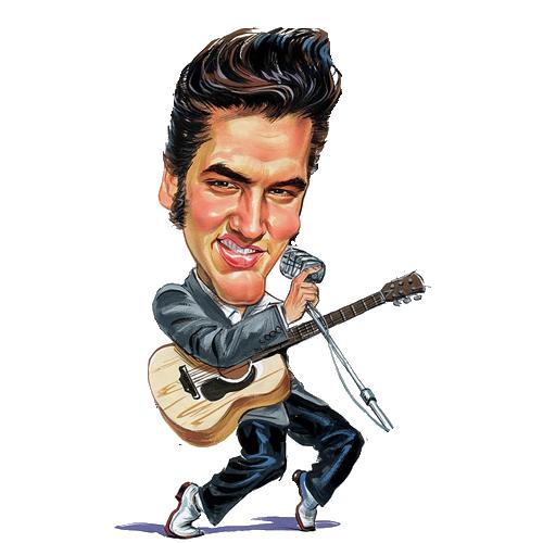 Elvis caricature clipart