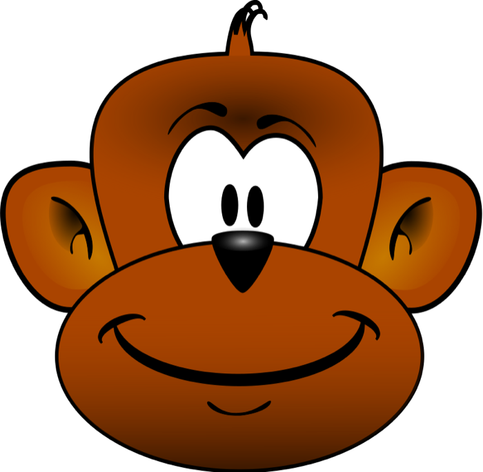 Animated faces clipart png free download Animated monkey faces clipart images gallery for free download   MyReal png free download