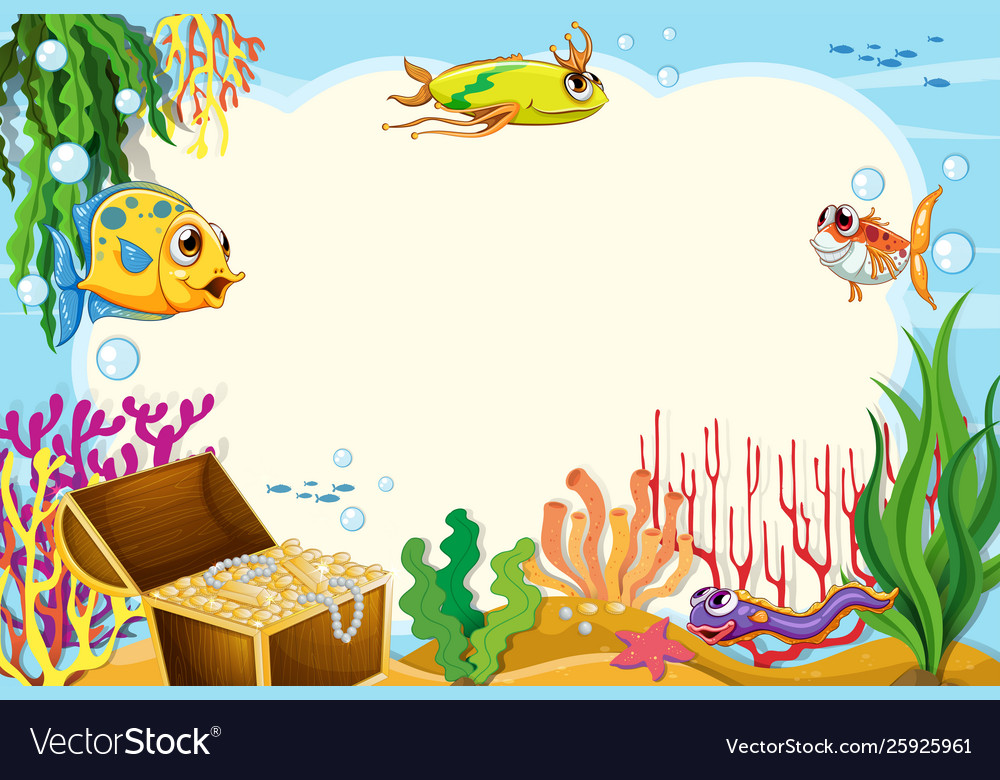 Animated fishing frame clipart jpg library download A border underwater jpg library download
