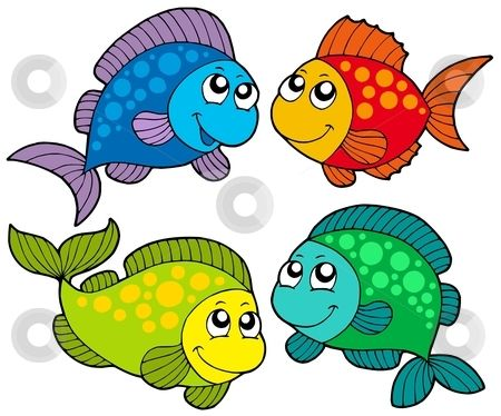 Animated fishing frame clipart banner transparent Free Cute Clip Art | Cute cartoon fishes collection stock vector ... banner transparent