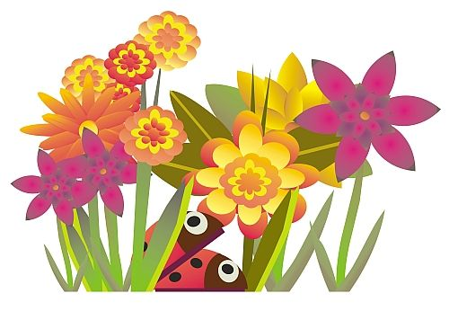 Free animated flower clipart. August flowers clip art