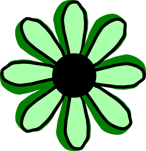 Flower animation clipart graphic free stock Green Flower Clip Art at Clker.com - vector clip art online, royalty ... graphic free stock