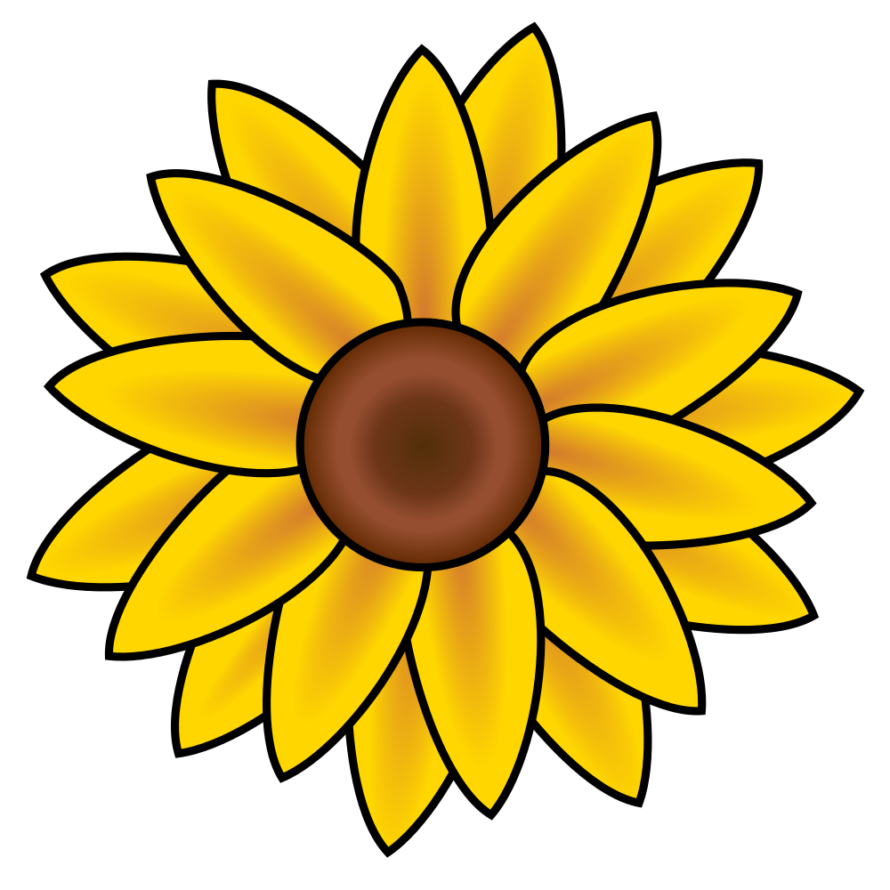 Animated flower clipart freeuse download File:Sunflower clip art.svg - Wikimedia Commons freeuse download