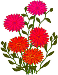 Animated flowers pictures images. Free butterflies gifs clipart