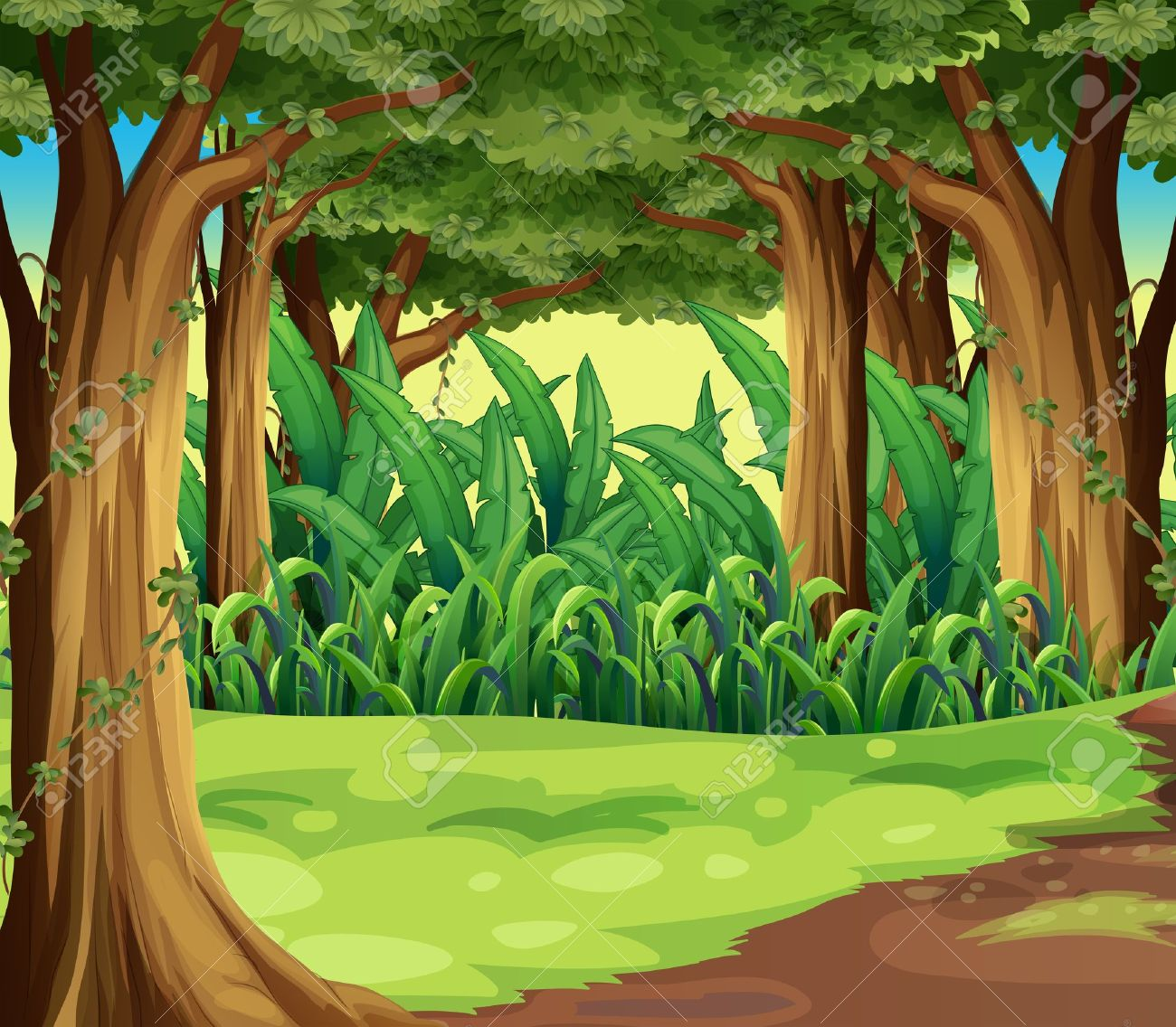 Animated forest clipart vector transparent download Animated forest clipart - Clip Art Library vector transparent download