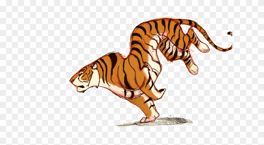 Animated gif tiger clipart clip transparent Tiger Gif Transparent Clipart Lion Tiger - Cartoon Tiger Running Gif ... clip transparent