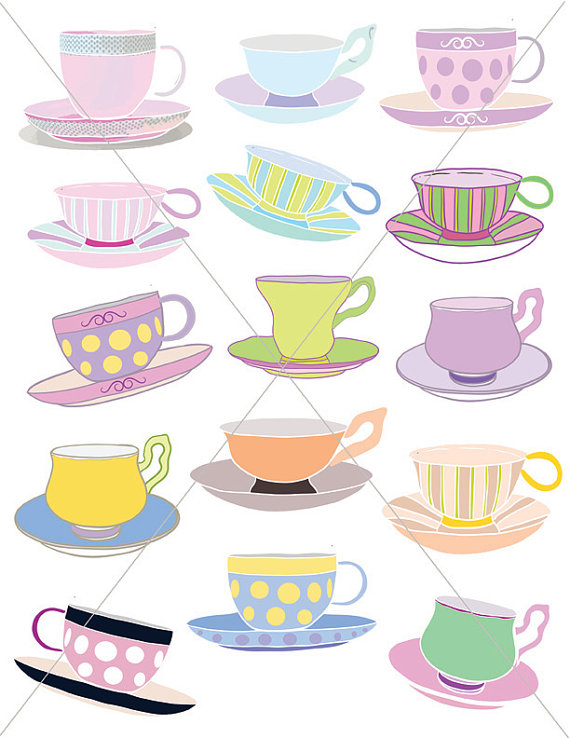 Blue polka dot teacup and saucer clipart free vector free download Teacups, Tea Party Graphics, Clipart Cups, Cup and Saucer Printables ... vector free download