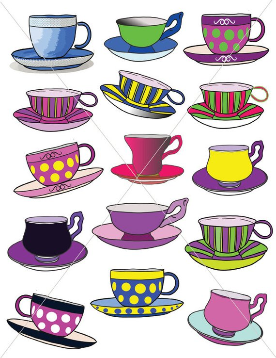 Animated glitter teacup and saucer clipart transparent background png library download Colorful Teacups, Tea Party Graphics, Clipart Cups, Cup and Saucer ... png library download