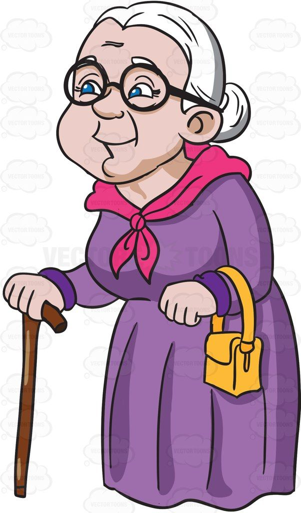 Cartoon grandma clipart png transparent stock A charming and happy grandmother cartoon grandmothers - Clipartable.com png transparent stock