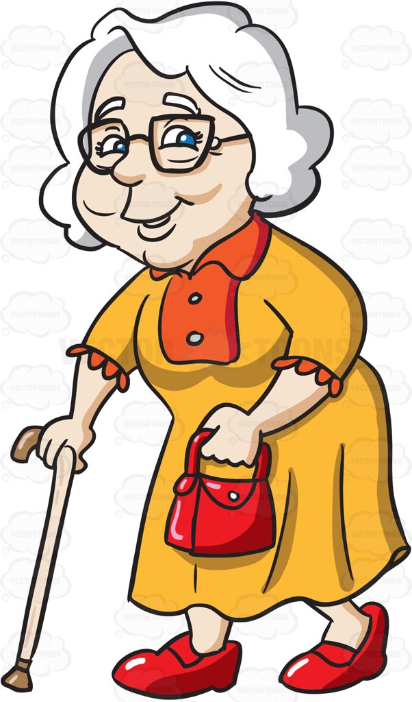Animated grandma clipart banner black and white library Cartoon Old Woman Clipart | Free download best Cartoon Old Woman ... banner black and white library