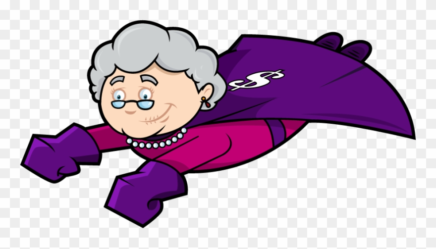 Animated grandma clipart graphic freeuse library Gift Card Granny - Super Grandma Cartoon Png Clipart (#899449 ... graphic freeuse library