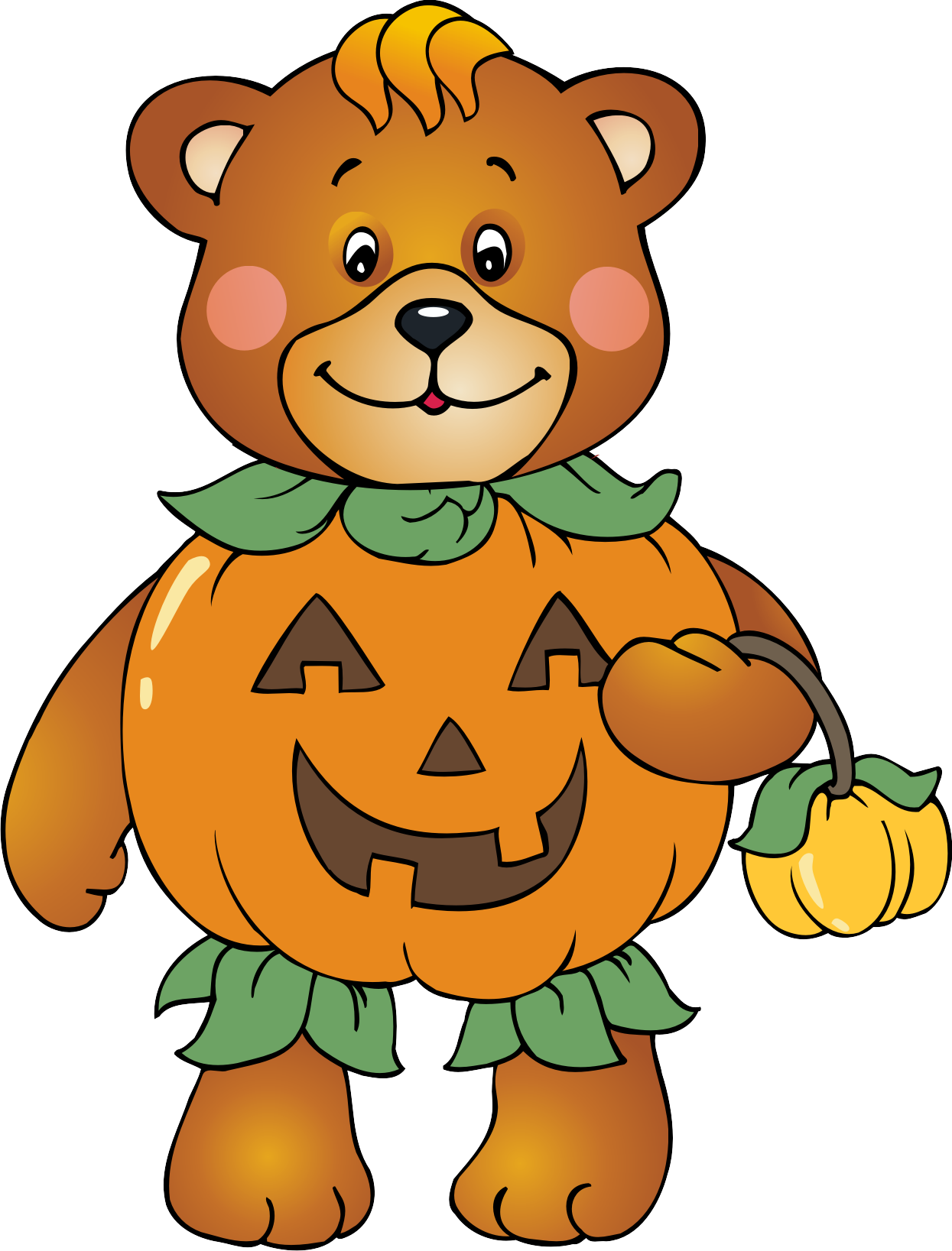 Charlie brown pumpkin clipart picture transparent stock Halloween Bear Clipart picture transparent stock