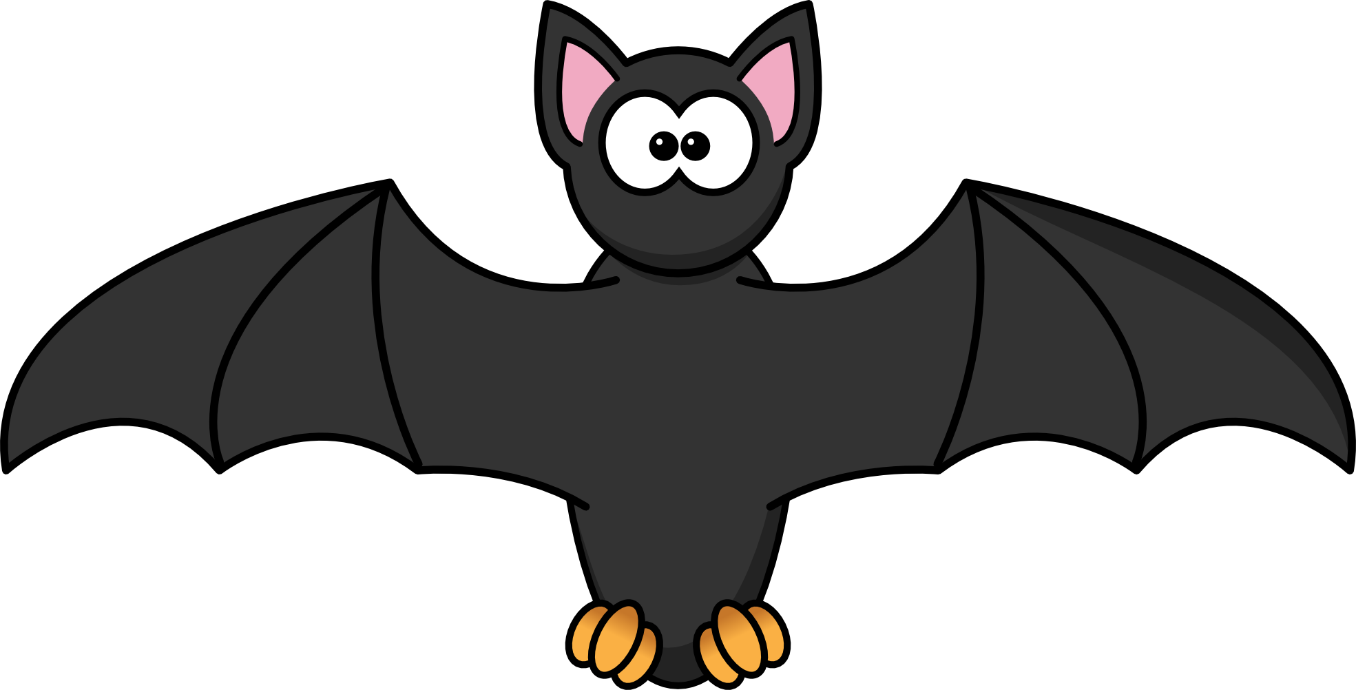 Animated halloween clipart for teachers black and white stock Cutie bat! | Drawing | Pinterest | Bats black and white stock