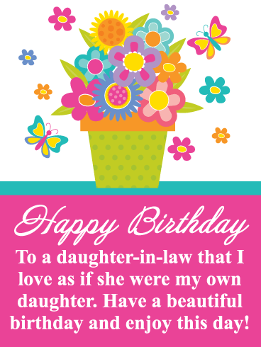 Animated happy birthday for daughter with flowers clipart graphic stock Happy Birthday Daughter-in-Law Messages with Images - Birthday ... graphic stock