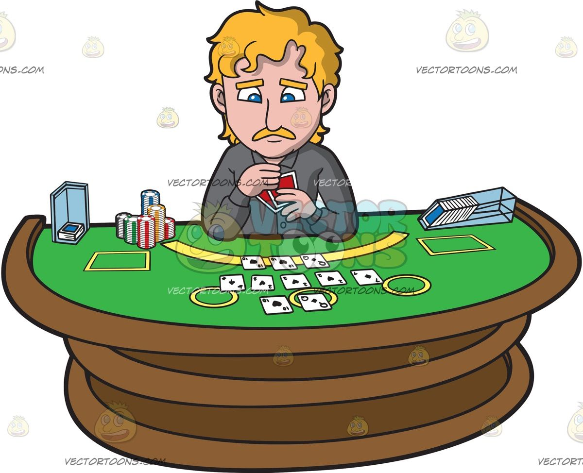Animated happy birthday with poker for men clipart clipart black and white download A Sad Man Playing Poker: A man with curly blonde hair mustache ... clipart black and white download