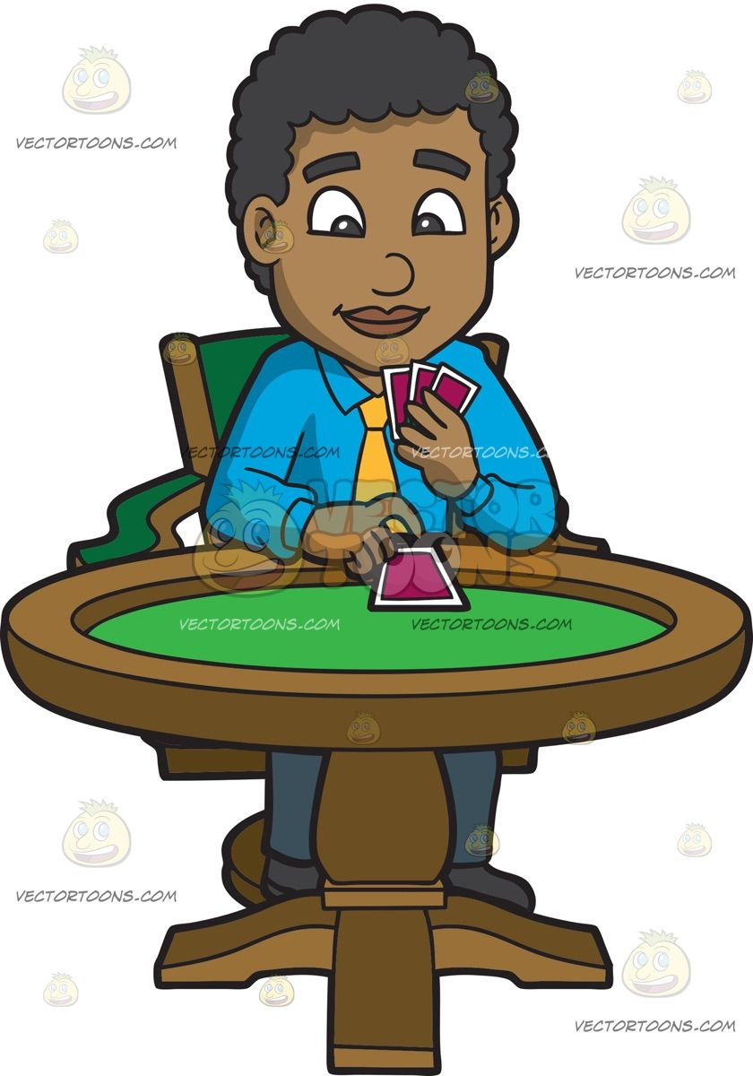 Animated happy birthday with poker for men clipart banner stock A Black Man Playing Poker: A black man with curly hair wearing a sky ... banner stock