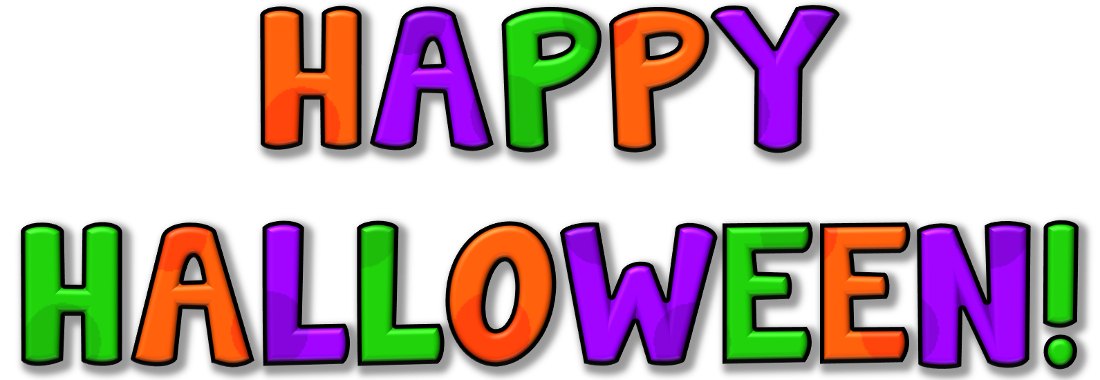 Free halloween birthday clipart banner royalty free library Free Happy Halloween Clipart at GetDrawings.com | Free for personal ... banner royalty free library