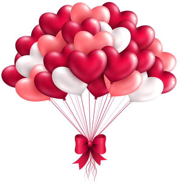 Triple heart clipart banner freeuse download Beautiful Heart Balloons PNG Clipart Image | Valentines clip ... banner freeuse download