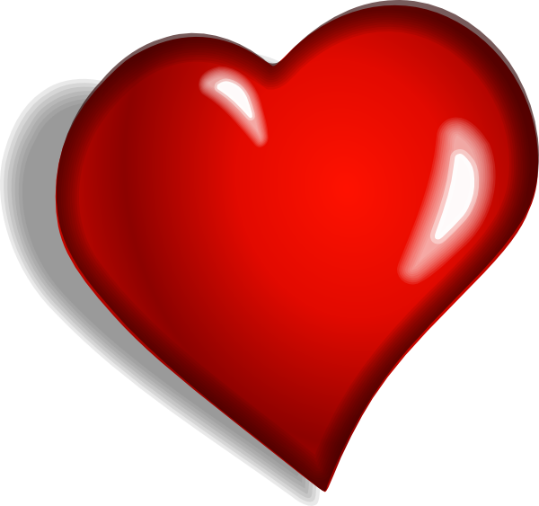 Small heart clipart free free library Heart 1 Clip Art at Clker.com - vector clip art online, royalty free ... free library