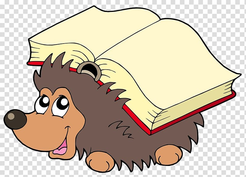 Animated hedgehog clipart png stock Hedgehog , Hedgehog on the back of the book transparent background ... png stock
