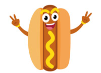 Animated hot dog clipart image black and white download Free Hotdog Clipart - Clip Art Pictures - Graphics - Illustrations image black and white download