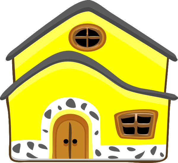 Yellow House Clip Art at Clker.com - vector clip art online, royalty ... transparent stock