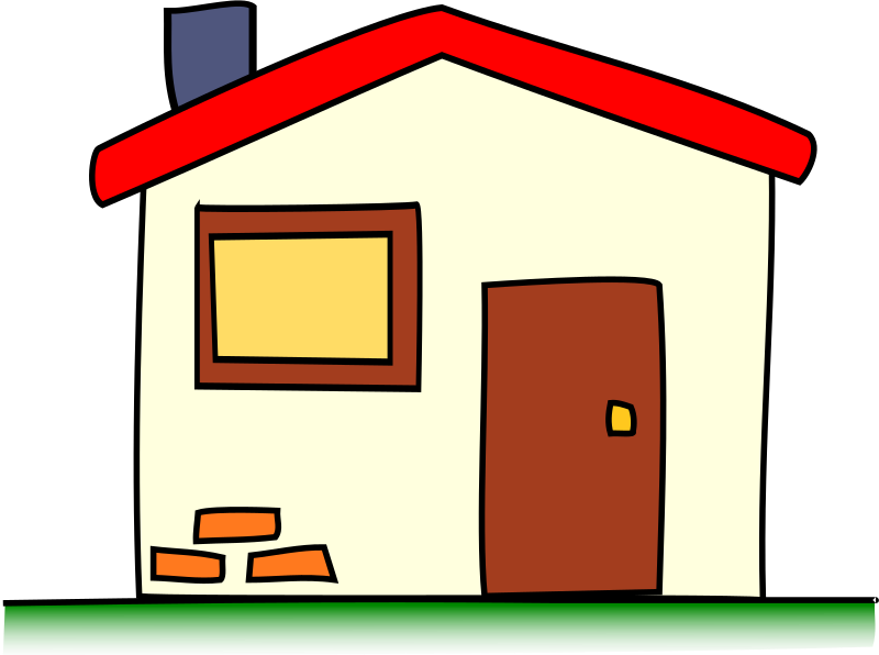 Cartoon house clipart picture transparent stock Clipart - my house picture transparent stock