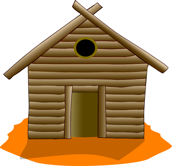 Animated house clipart picture transparent library Wooden House Orange Clip Art at Clker.com - vector clip art online ... picture transparent library