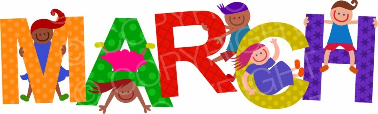 Animated images clipart march clip art royalty free Happy Kids - March Title Text – Prawny Clipart Cartoons & Vintage ... clip art royalty free