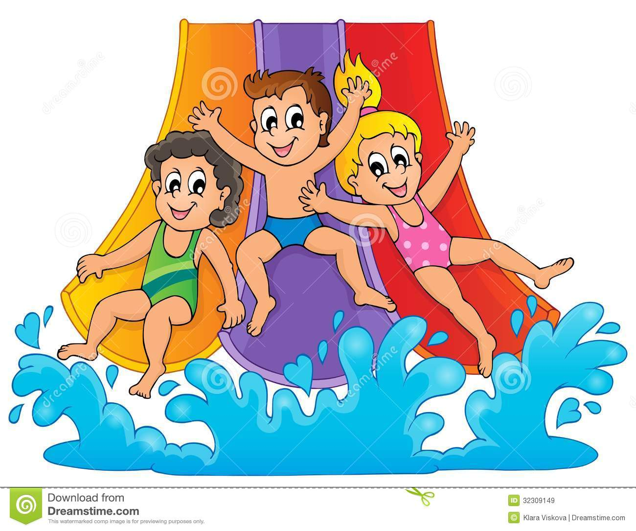 Water day clipart free png library 47+ Water Slide Clip Art | ClipartLook png library