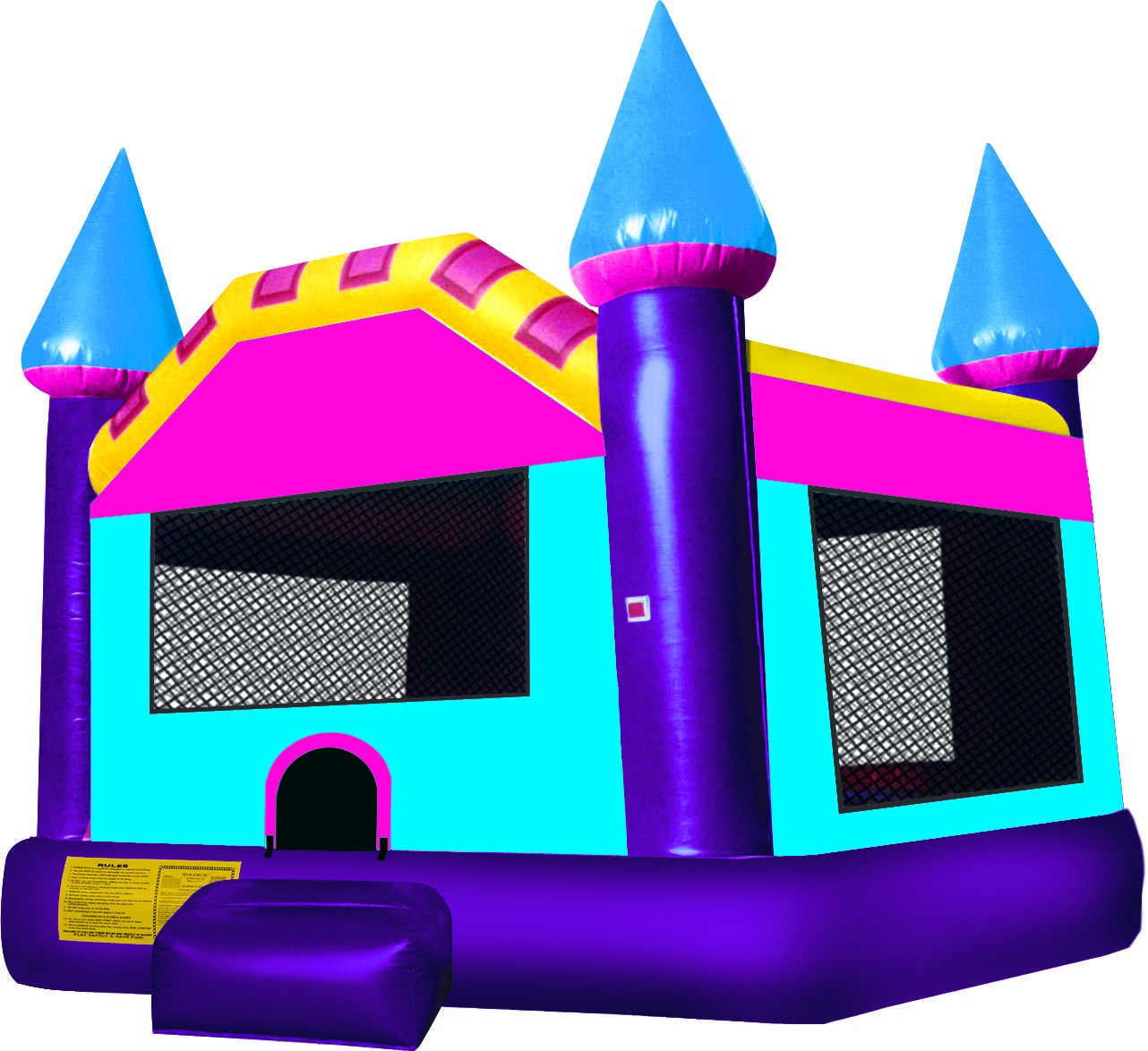 Waterslid bouncy house clipart png black and white Inflatable Water Slide Clipart | Free download best Inflatable Water ... png black and white