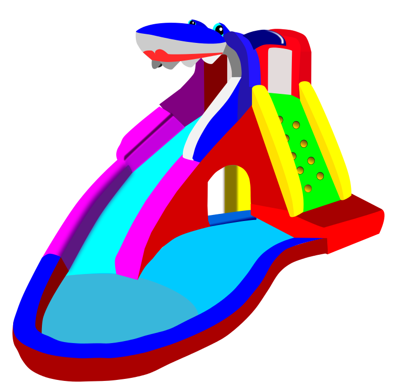 Waterslide clipart svg library Free Inflatable Slide Cliparts, Download Free Clip Art, Free Clip ... svg library