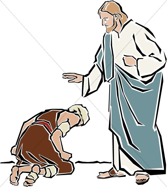Jesus forgiveness clipart picture royalty free download Jesus Heals the Leper | New Testament Clipart picture royalty free download