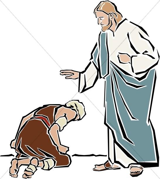 Jesus forgiveness clipart