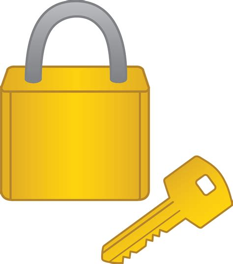Animated lock and key clipart png library download Lock And Key Clip Art - Falcones png library download