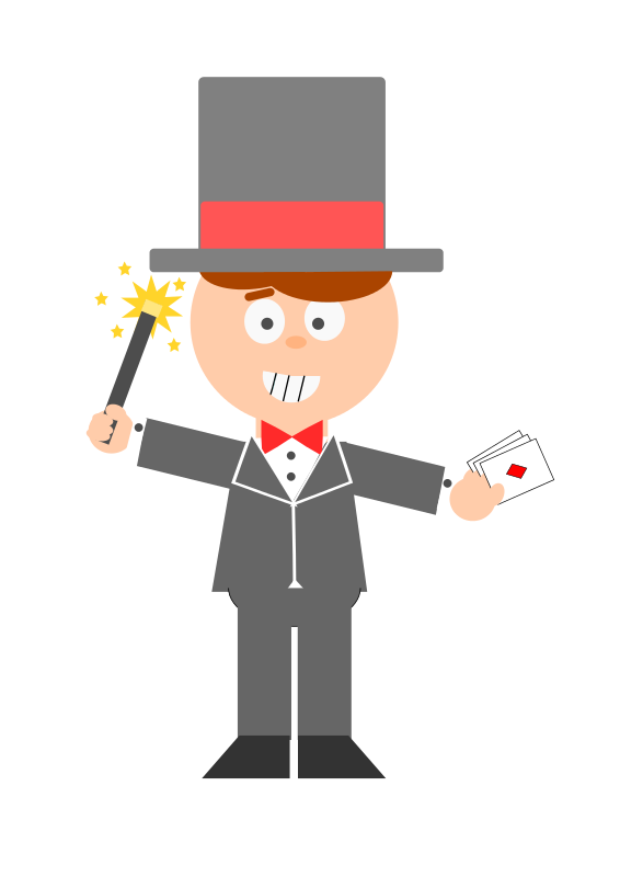 Animated magician clipart graphic transparent stock Free clip art \
