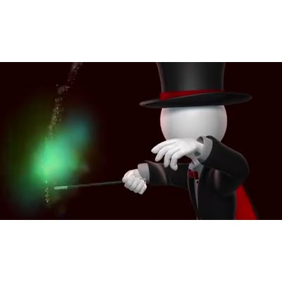 Animated magician clipart clip art black and white Magicians Wand - HD Video Backgrounds - Video Background for ... clip art black and white