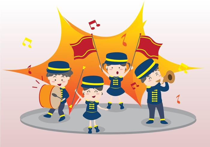 Animated marching band clipart banner download Marching Band For Kids Vector - Download Free Vector Art, Stock ... banner download