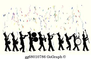 Animated marching band clipart clip transparent stock Marching Band Clip Art - Royalty Free - GoGraph clip transparent stock