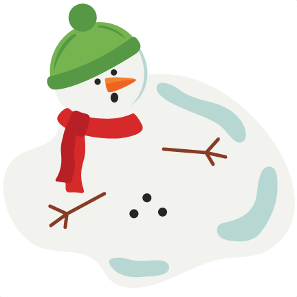 Animated melting snowman clipart