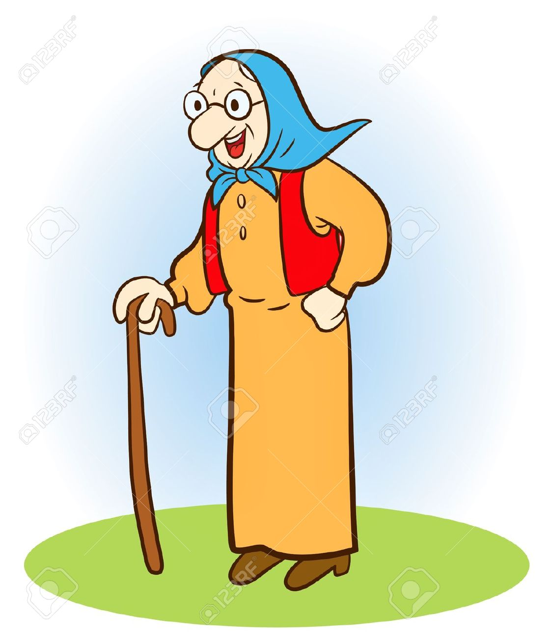 Animated old lady clipart clip black and white library Cartoon Old Woman Clipart | Free download best Cartoon Old Woman ... clip black and white library