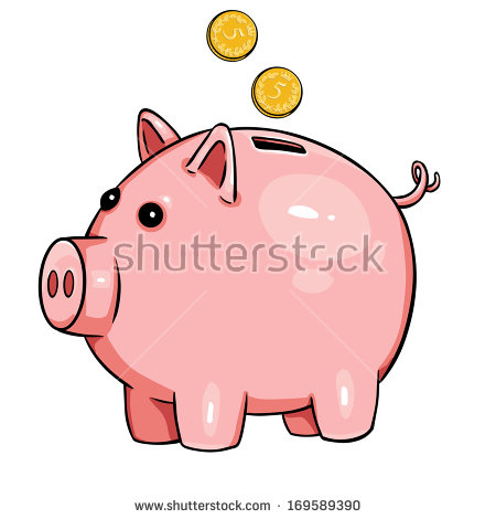 Cartoon stock images royalty. Animated piggy bank clipart