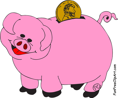 Clipartfest free the . Animated piggy bank clipart
